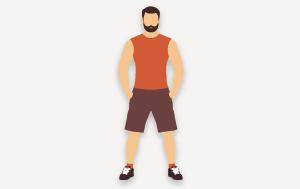 Aktiver Stoffwechsel - Sportlicher Mann